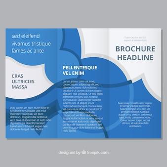 Szablon broszury z płaskimi okręgami