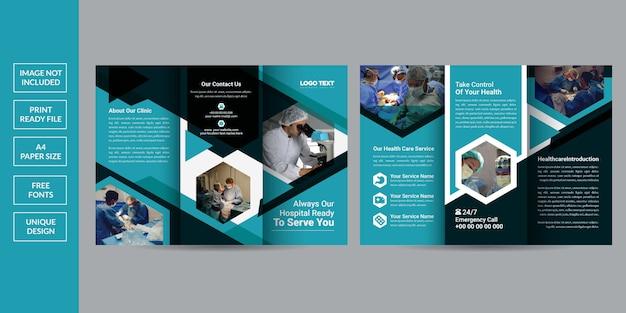 Szablon broszury zdrowia składanej trzykrotnie