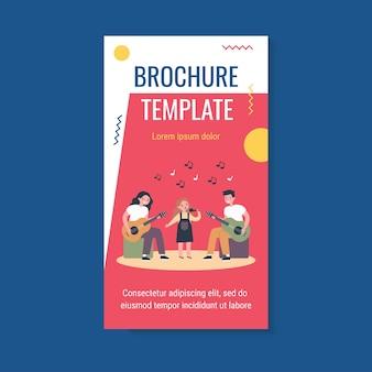 Szablon broszury zespołu muzycznego dla dzieci