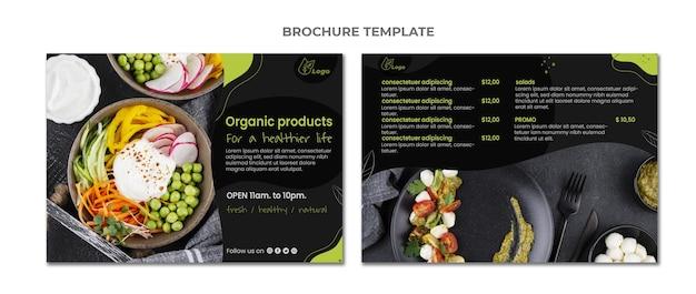 Szablon broszury żywności o płaskiej konstrukcji