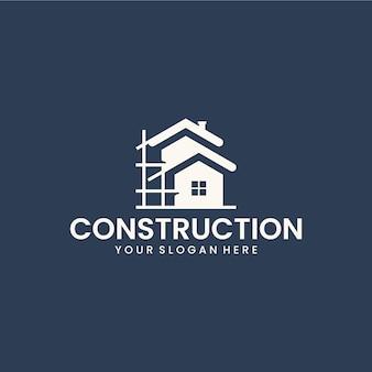Szablon budowlany, inspiracja do projektowania logo