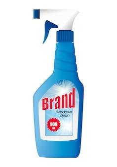 Szablon butelki do czyszczenia okien