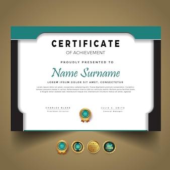 Szablon certyfikatu biznesowego