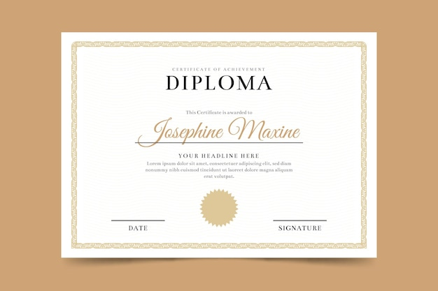 Szablon certyfikatu dyplomu