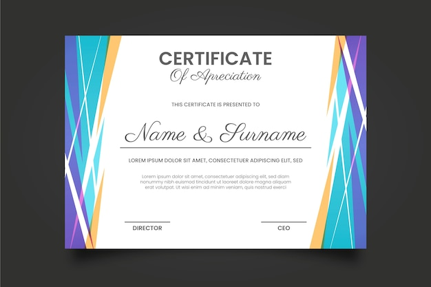 Szablon certyfikatu geometrycznego