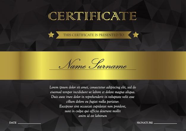 Szablon certyfikatu i dyplomu