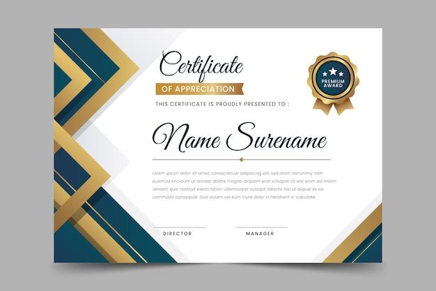 Szablon certyfikatu luksusowego