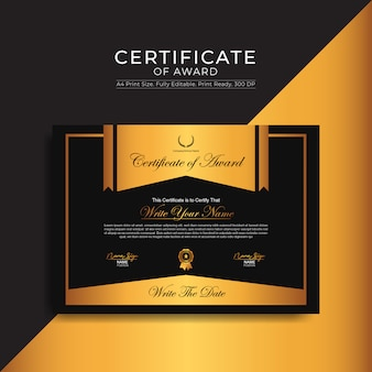 Szablon certyfikatu nagrody