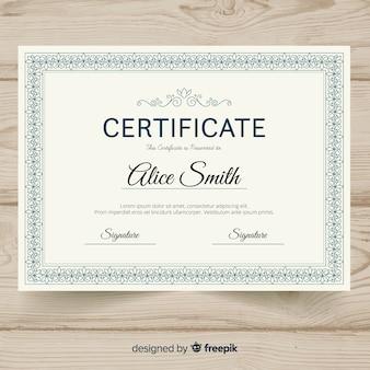 Szablon certyfikatu ozdobnego
