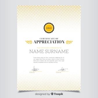 Szablon certyfikatu płaski