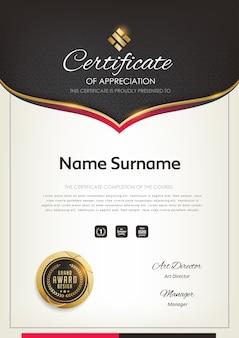 Szablon certyfikatu premium