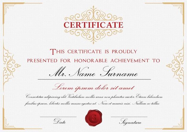 Szablon certyfikatu projekt