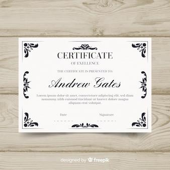 Szablon certyfikatu retro