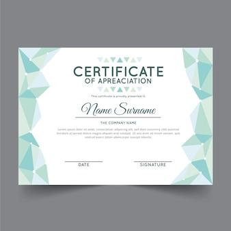 Szablon certyfikatu streszczenie geometryczne