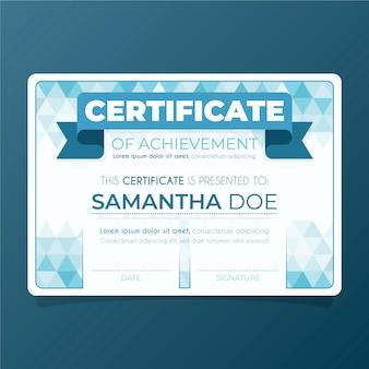 Szablon certyfikatu streszczenie