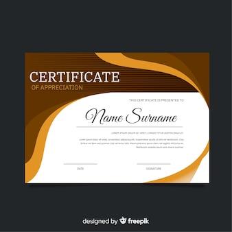 Szablon certyfikatu stylu abstrakcyjnego