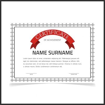 Szablon certyfikatu szablonu z ciemnoszarymi granicami
