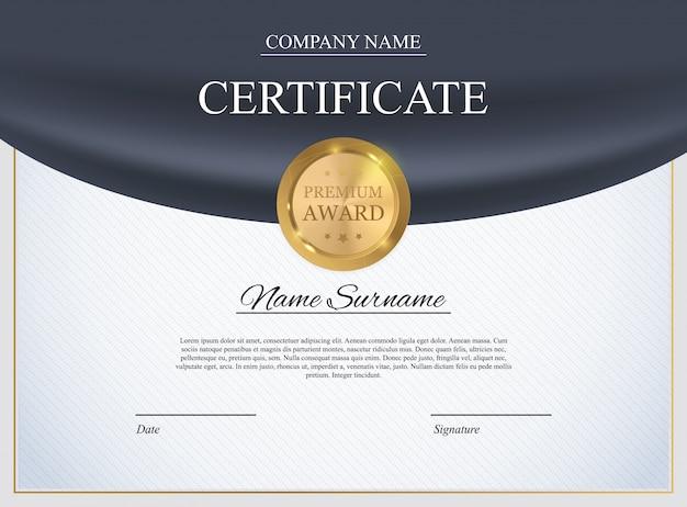 Szablon certyfikatu tło. projekt dyplomu nagrody pusty.