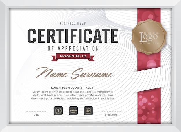 Szablon certyfikatu uznania