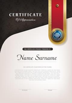 Szablon certyfikatu w luksusowym stylu