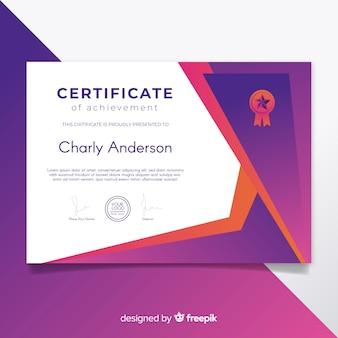Szablon certyfikatu w nowoczesnym designie
