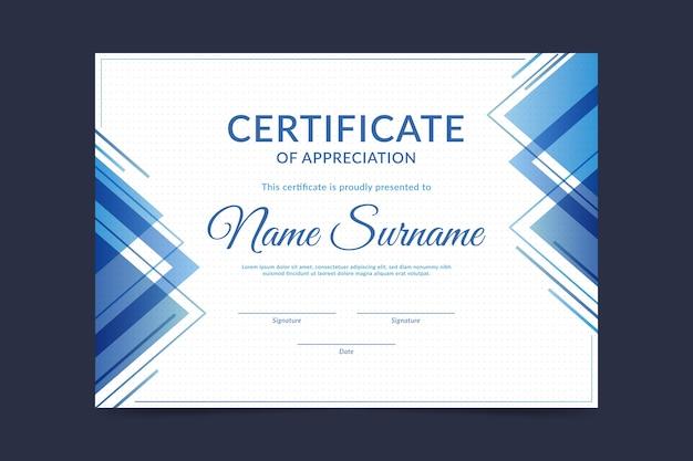 Szablon certyfikatu w streszczenie