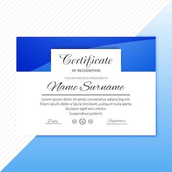 Szablon certyfikatu z nowoczesnym wzornictwem