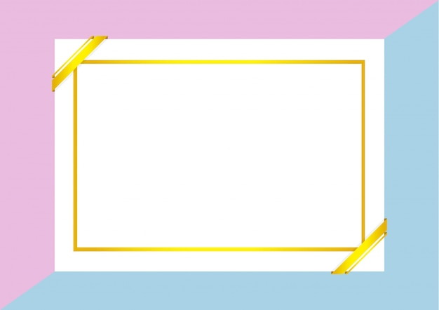 Szablon certyfikatu ze złotą ramą na fioletowo-niebieski pastelowy kolor