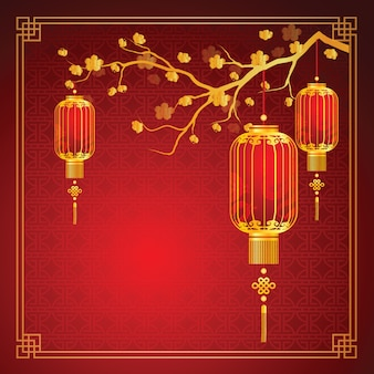 Szablon chiński latarnia