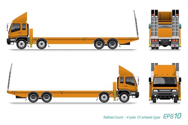 Szablon ciężarówka platforma