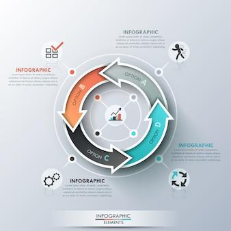 Szablon cyklu nowoczesny infografiki