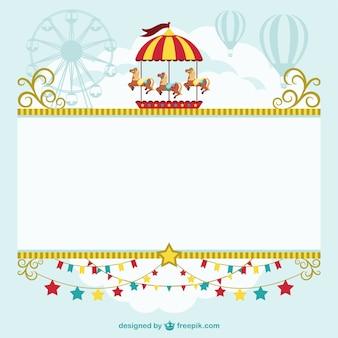 Szablon cyrkowy namiot za darmo
