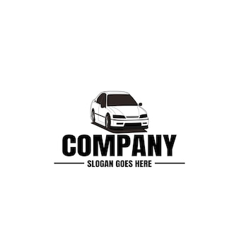 Szablon czarny samochód i logo motoryzacyjny