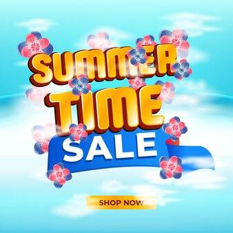 Szablon czasu letniego na banery sprzedaży