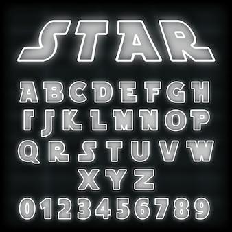 Szablon czcionki alfabetu