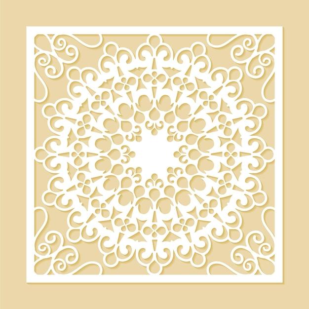 Szablon dekoracyjny wzór bez szwu wycinany