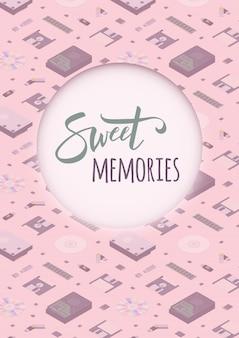 Szablon dekorujący słodkie wspomnienia
