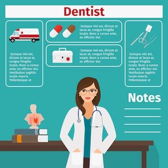 Szablon dentysty i sprzętu medycznego