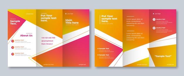 Szablon do abstrakcyjnego potrójnego broszury