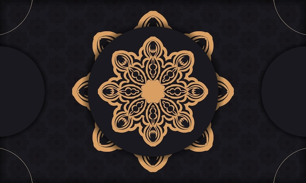 Szablon do druku zaproszenia do druku z greckim ornamentem. czarny transparent wektor z rocznika ozdoby i miejsce pod tekstem.