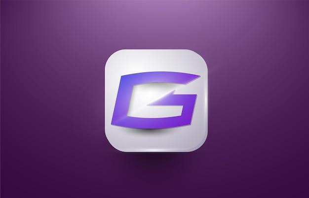 Szablon do gier z logo litery g