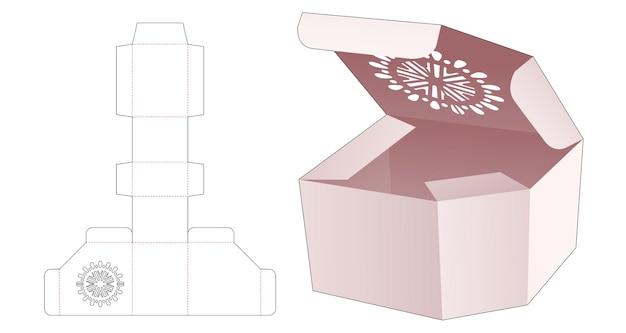 Szablon do wycinania pudełek do pakowania