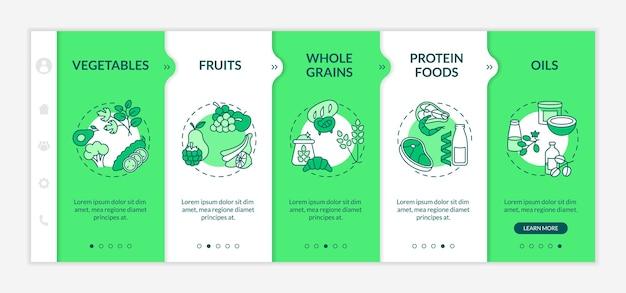 Szablon dołączania składników diety wegetariańskiej