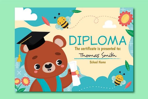 Szablon dyplomu dla dzieci