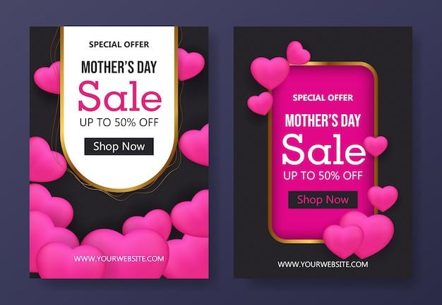 Szablon dzień matki sprzedaż ulotki