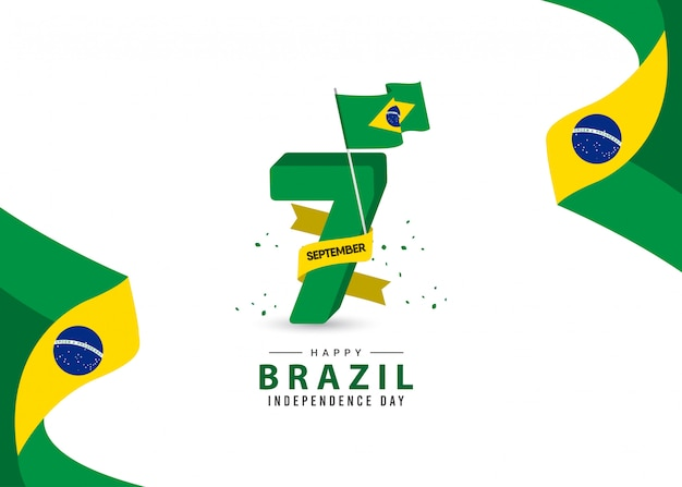 Szablon dzień niepodległości brazylii.
