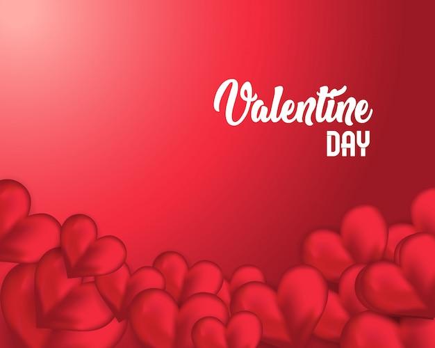 Szablon dzień pozdrowienia valentine, valentine tło z sercem