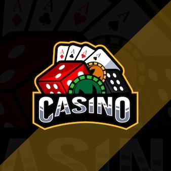 Szablon e-logo logo maskotka kasyna