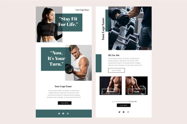Szablon e-mail fitness