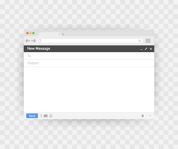 Szablon e-maila puste okno przeglądarki e-mail.